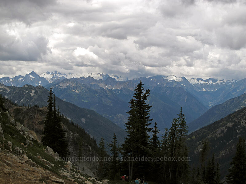 view to the southwest [Maple Pass Trail, North Cascades National Park, Washington]