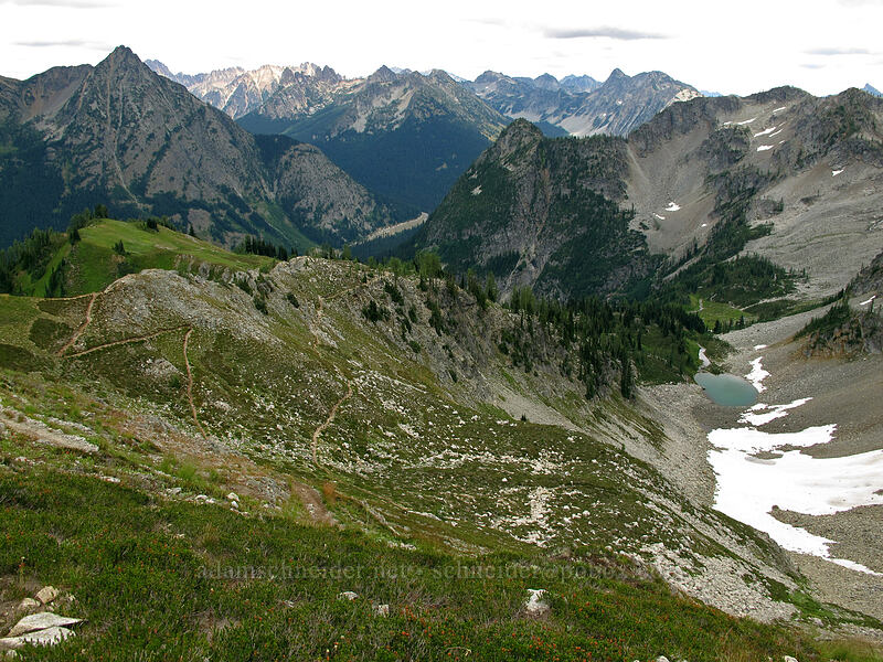view to the east [Maple Pass Trail, North Cascades National Park, Washington]