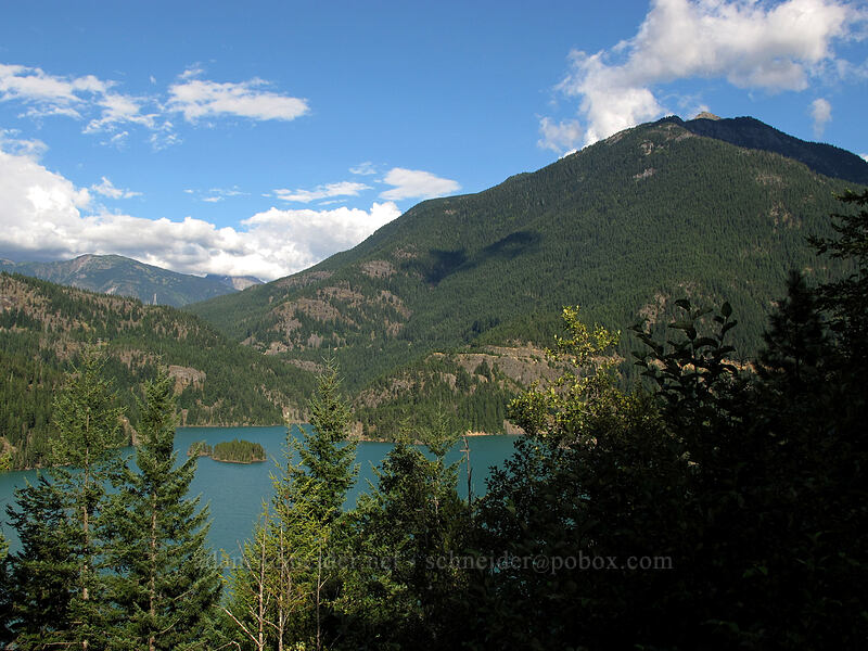 Diablo Lake & Ruby Mountain [Highway 20, North Cascades National Park, Washington]