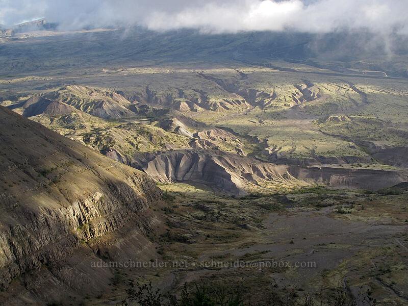 pumice plain & shadows [Boundary Trail, Mt. St. Helens National Volcanic Monument, Washington]