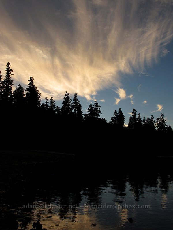 sunset at Timothy Lake [Hoodview Campground, Mt. Hood National Forest, Oregon]