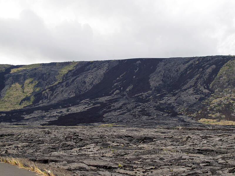 lava flows on Holei Pali [Chain of Craters Road, Hawaii Volcanoes National Park, Big Island, Hawaii]