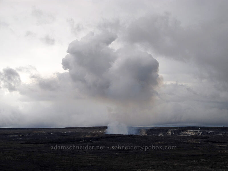gases rising from Halema'uma'u Crater [Volcano House, Hawaii Volcanoes National Park, Big Island, Hawaii]