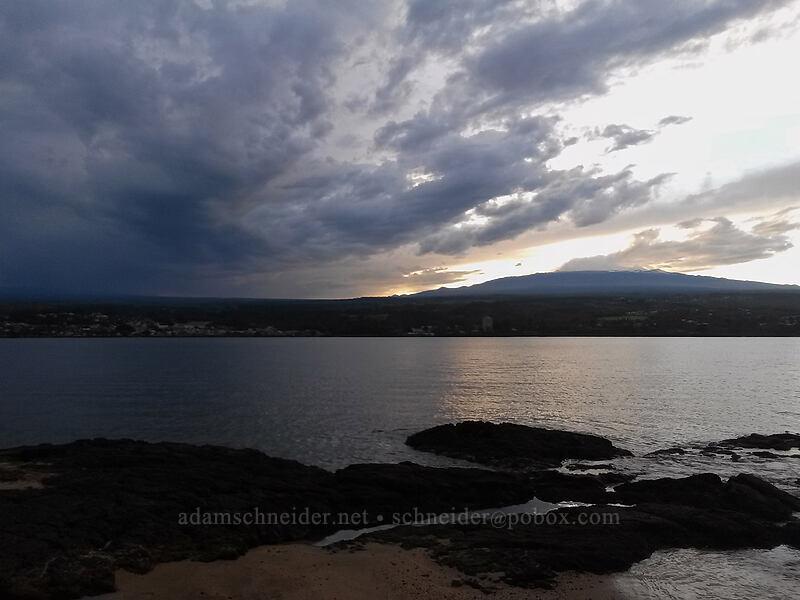 sunset over Mauna Kea [Coconut Island (Moku Ola), Hilo, Big Island, Hawaii]