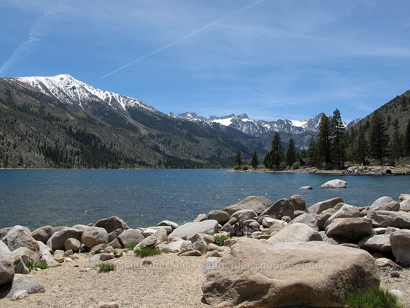 Lower Twin Lake & Crater Crest [Twin Lakes Road, Toiyabe National Forest, California]