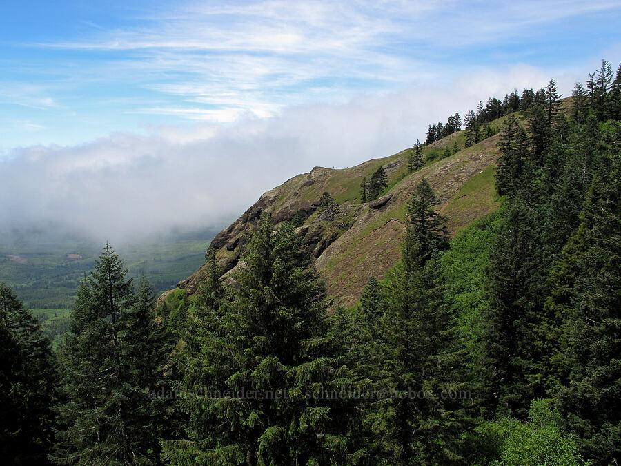 marine layer & Saddle Mountain [Saddle Mountain, Clatsop County, Oregon]
