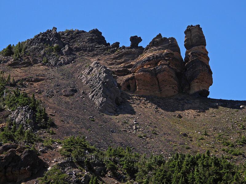 hoodoos [Three-Fingered Jack's east ridge, Mt. Jefferson Wilderness, Oregon]