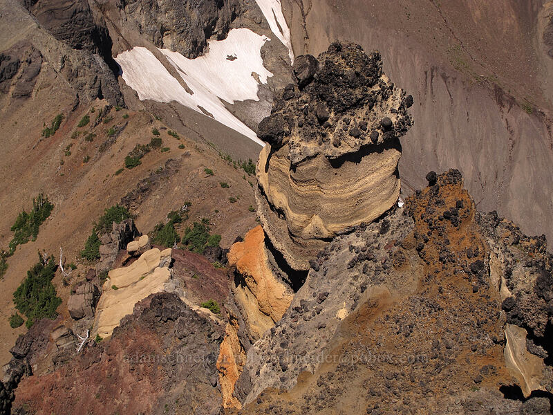big yellow hoodoo [Three-Fingered Jack's east ridge, Mt. Jefferson Wilderness, Oregon]