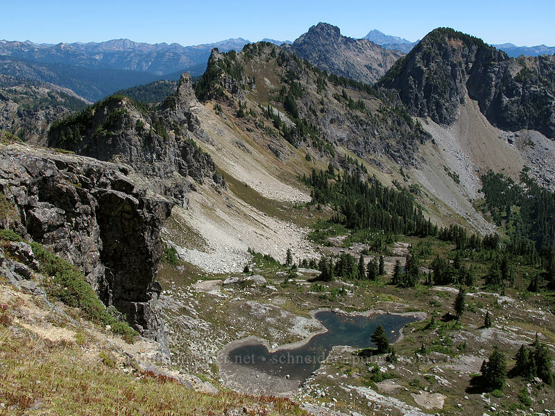 basin below Alta Mountain [Alta Mountain, Alpine Lakes Wilderness, Washington]