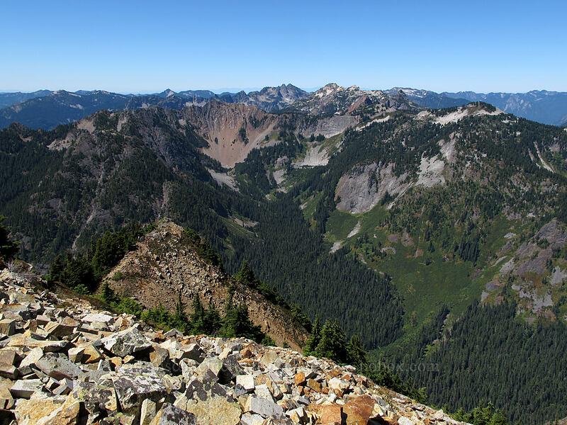 view to the west [Alta Mountain summit, Alpine Lakes Wilderness, Washington]