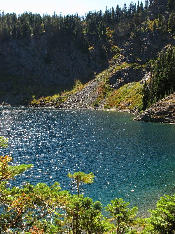 sparkles on Rachel Lake [Rachel Lake Trail, Alpine Lakes Wilderness, Washington]