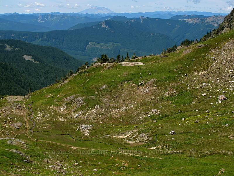 Jordan Basin & Mt. St. Helens [Goat Ridge Trail, Goat Rocks Wilderness, Washington]
