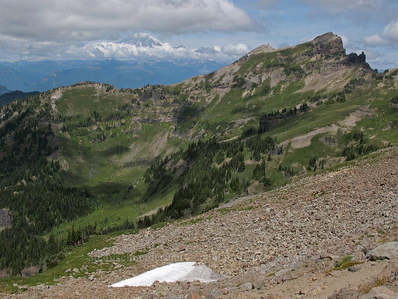 Johnson Peak & Mt. Rainier [Lily Basin Trail, Goat Rocks Wilderness, Washington]