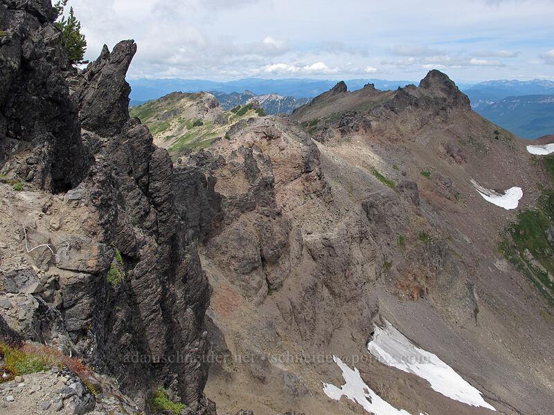 ridge north of Hawkeye Point [Hawkeye Point, Goat Rocks Wilderness, Washington]