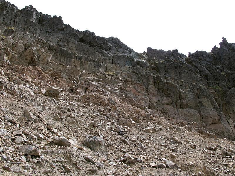 scramble route [below Hawkeye Point, Goat Rocks Wilderness, Washington]