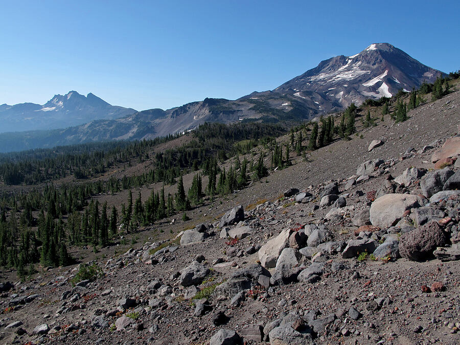 Broken Top & South Sister [Middle Sister climber's trail, Three Sisters Wilderness, Oregon]