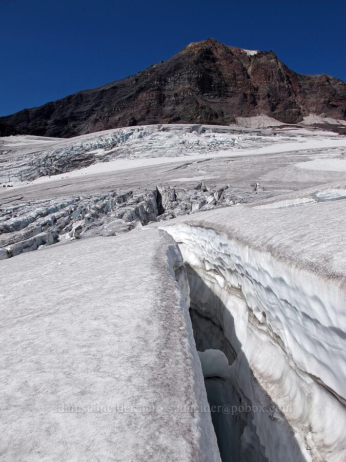 glacial crevasse [Hayden Glacier, Three Sisters Wilderness, Oregon]