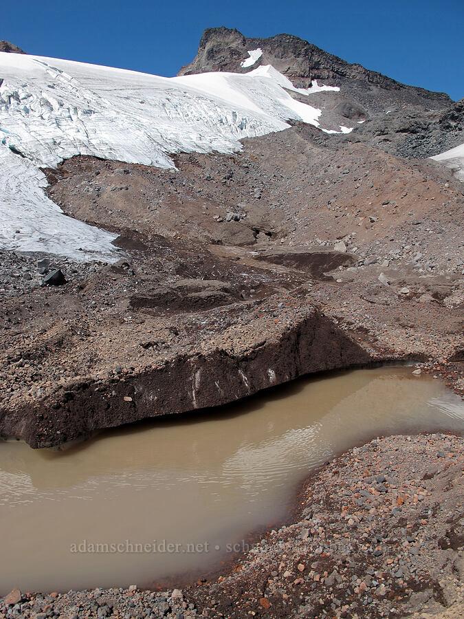 north side of Hayden Glacier [north of Hayden Glacier, Three Sisters Wilderness, Oregon]