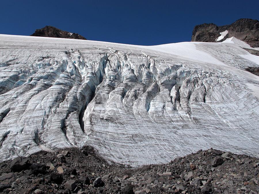 crevasses on the north side of Hayden Glacier [north of Hayden Glacier, Three Sisters Wilderness, Oregon]