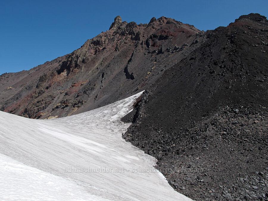 North Sister & snowfields [below North Sister, Three Sisters Wilderness, Oregon]