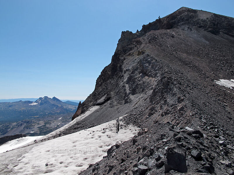 Middle Sister's north ridge [top of Hayden Glacier, Three Sisters Wilderness, Oregon]
