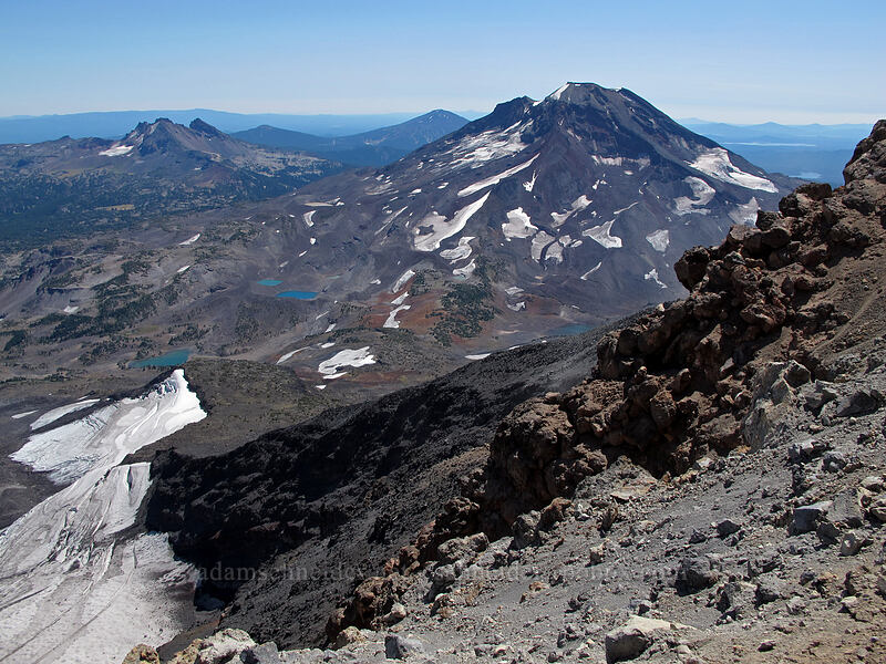 South Sister & Broken Top [Middle Sister, Three Sisters Wilderness, Oregon]