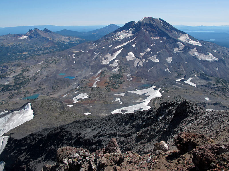 South Sister & Broken Top [Middle Sister summit, Three Sisters Wilderness, Oregon]