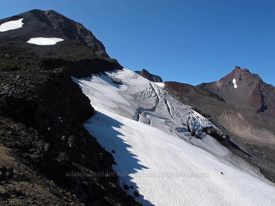 top of Diller Glacier [south of Diller Glacier, Three Sisters Wilderness, Oregon]