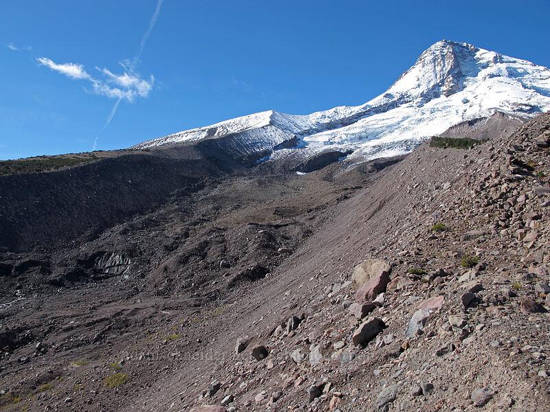 Mount Hood & Eliot Glacier [Eliot Glacier moraine, Mt. Hood Wilderness, Oregon]