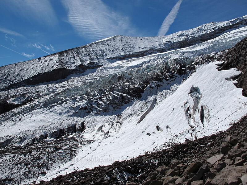 Eliot Glacier & Cooper Spur [Eliot Glacier moraine, Mt. Hood Wilderness, Oregon]