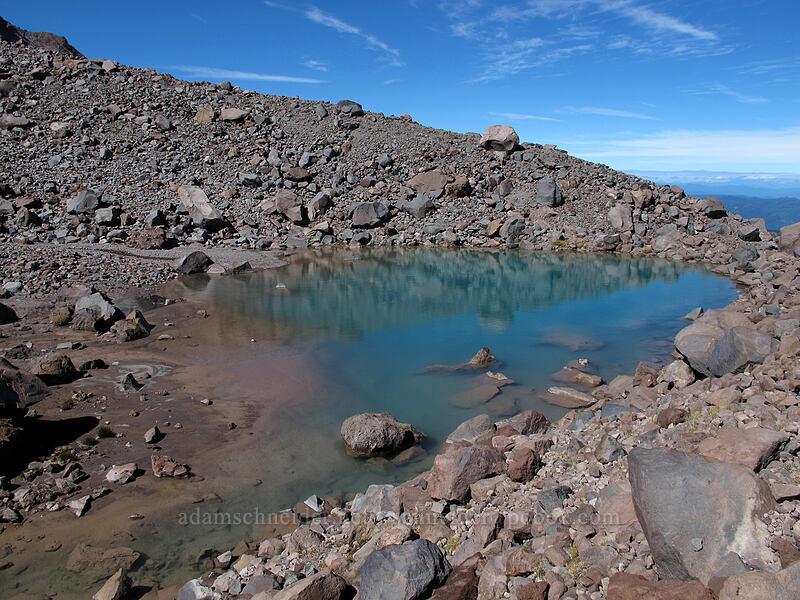 Mooney tarn [below Langille Glacier, Mt. Hood Wilderness, Oregon]