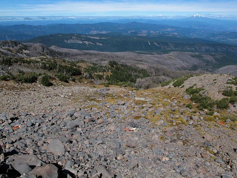 1975 Mooney plane crash wreckage [below Langille Glacier, Mt. Hood Wilderness, Oregon]