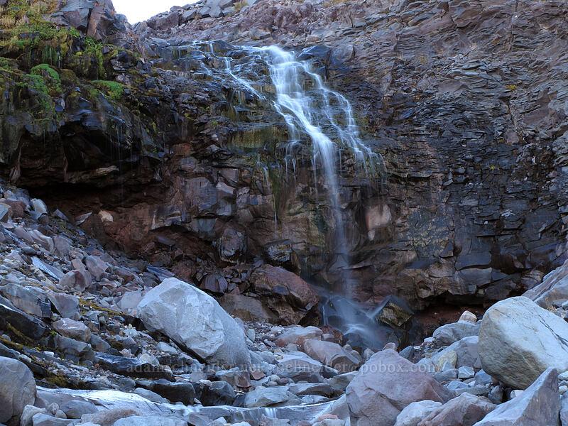 waterfall on Compass Creek [Timberline Trail, Mt. Hood Wilderness, Oregon]