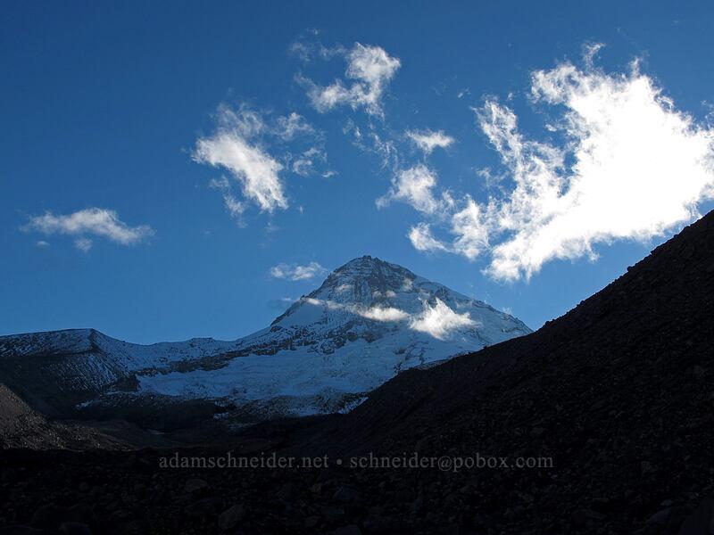 evening clouds & Mount Hood [Timberline Trail, Mt. Hood Wilderness, Oregon]