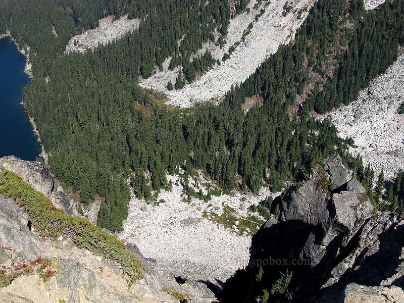 the trail, 1200 feet below [Surprise Mountain, Alpine Lakes Wilderness, Washington]