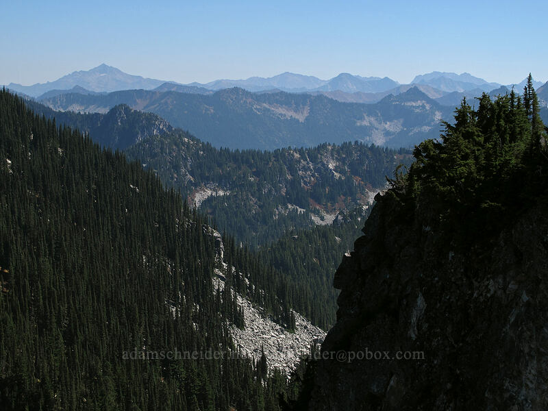 view to the southeast [Surprise Mountain, Alpine Lakes Wilderness, Washington]