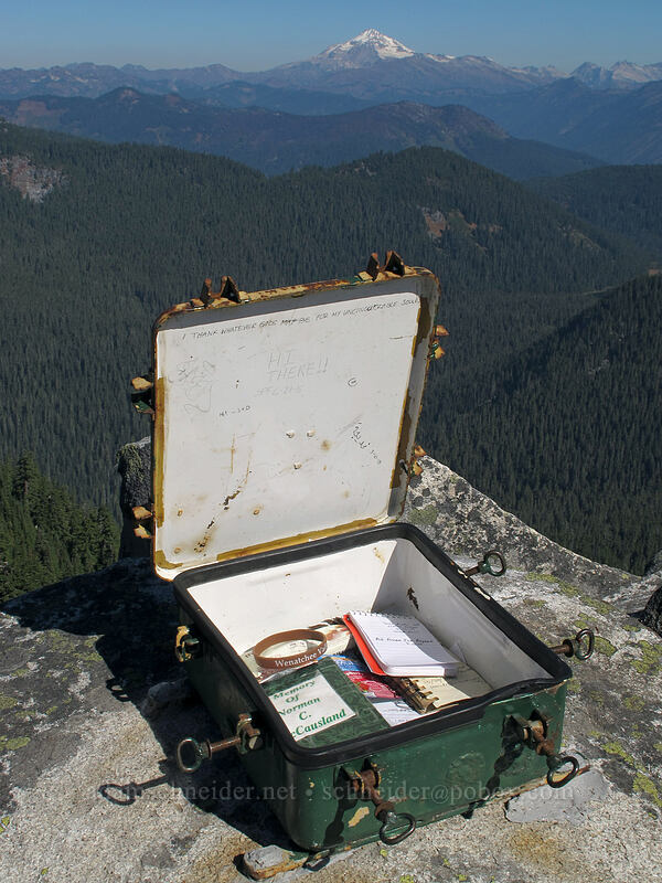 summit register box [Mt. McCausland, Henry M. Jackson Wilderness, Washington]