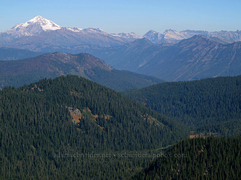 Glacier Peak & Wenatchee Ridge [Mt. McCausland, Henry M. Jackson Wilderness, Washington]