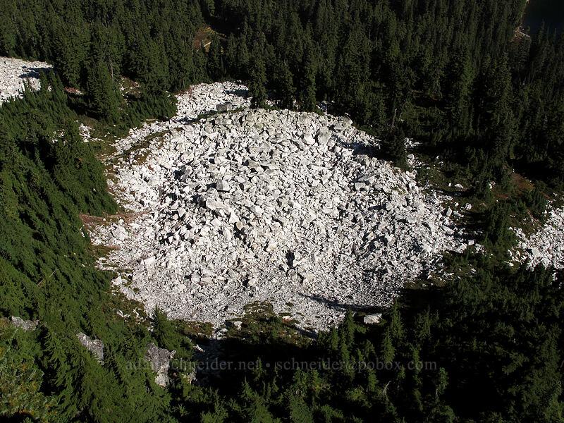 rockfall from Mt. McCausland [Mt. McCausland, Henry M. Jackson Wilderness, Washington]