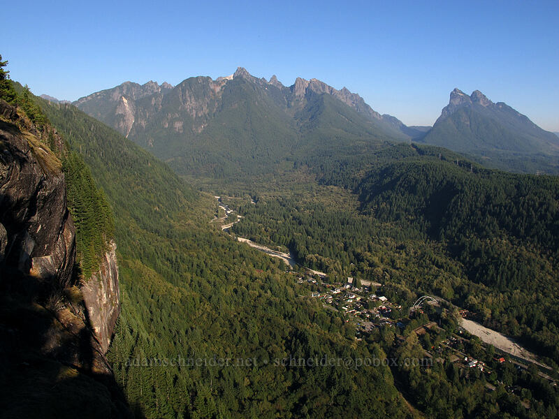 Gunn Peak, Baring Mountain, & Index [Index Town Wall, Index, Washington]