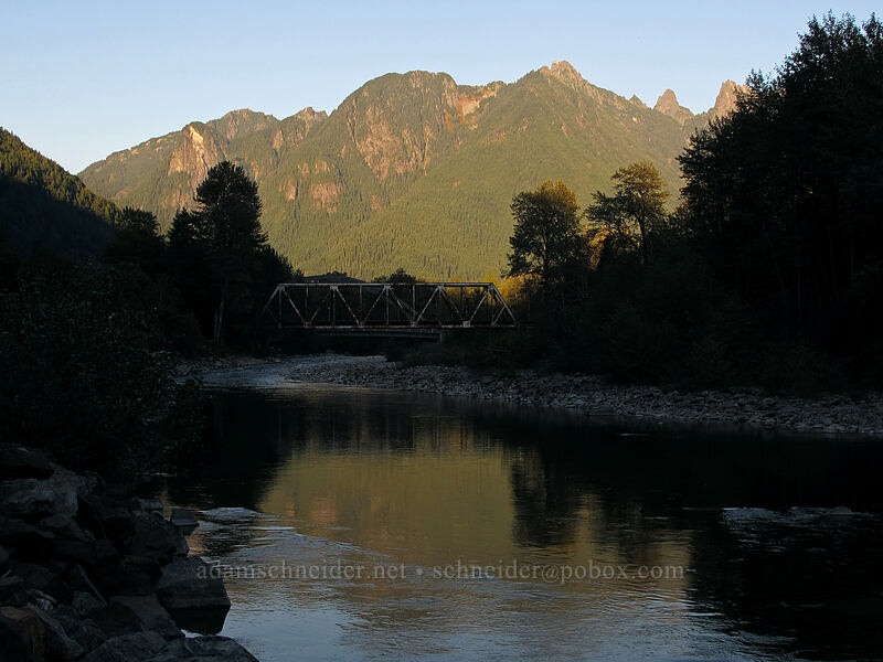 North Fork Skykomish River & Gunn Peak [Avenue A, Index, Washington]