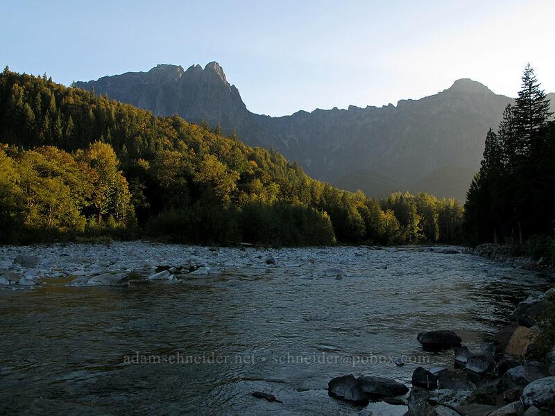 Mt. Index & North Fork Skykomish River [Avenue A, Index, Washington]