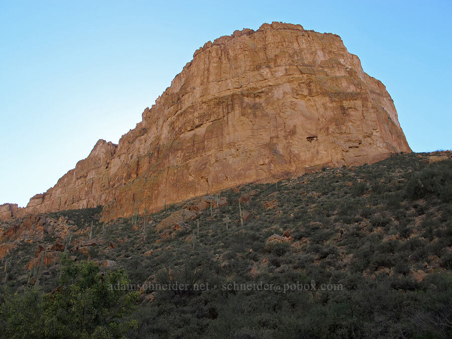 Battleship Mountain [La Barge Canyon, Superstition Wilderness, Arizona]