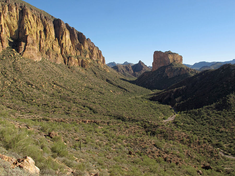 Geronimo Head & Battleship Mountain [Boulder Canyon Trail, Superstition Wilderness, Arizona]