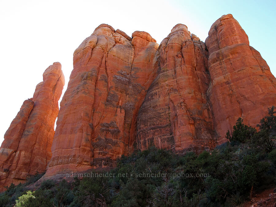 spires of Cathedral Rock [Cathedral Rock Trail, Coconino National Forest, Arizona]