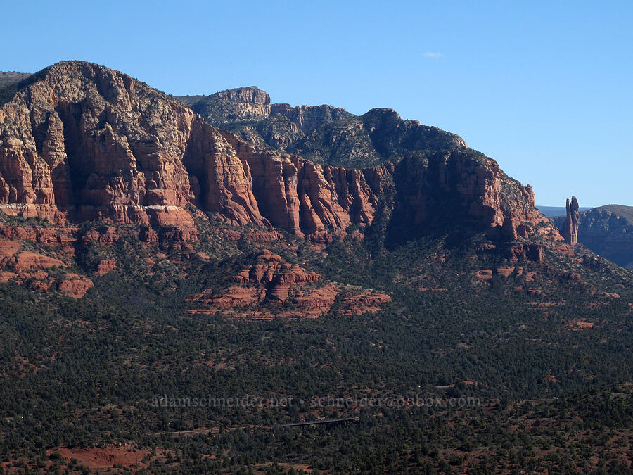 buttes & Oak Creek Spire (Rabbit Ears Spire) [Cathedral Rock, Coconino National Forest, Arizona]