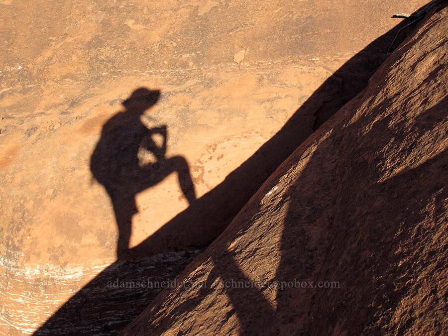 my shadow [Bell Rock, Munds Mountain Wilderness, Arizona]