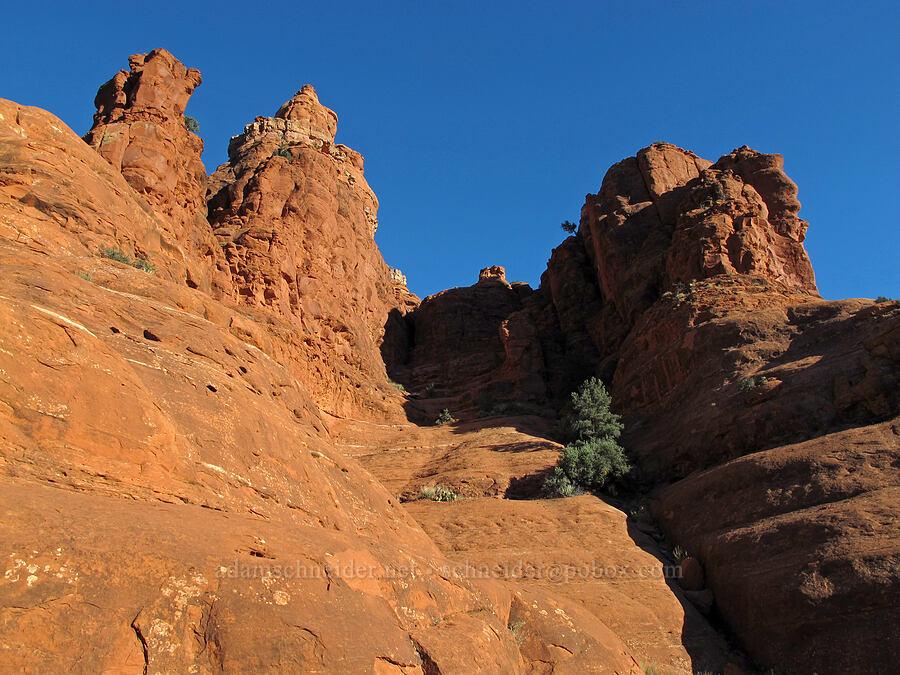 climbing route [Bell Rock, Munds Mountain Wilderness, Arizona]