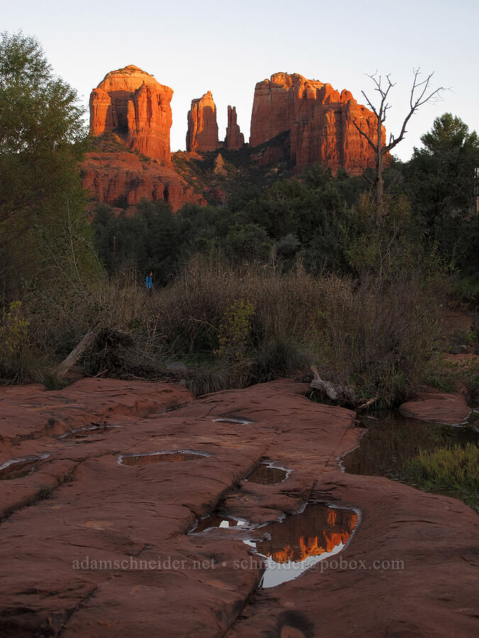 Cathedral Rock at sunset [Baldwin Trail, Coconino National Forest, Arizona]