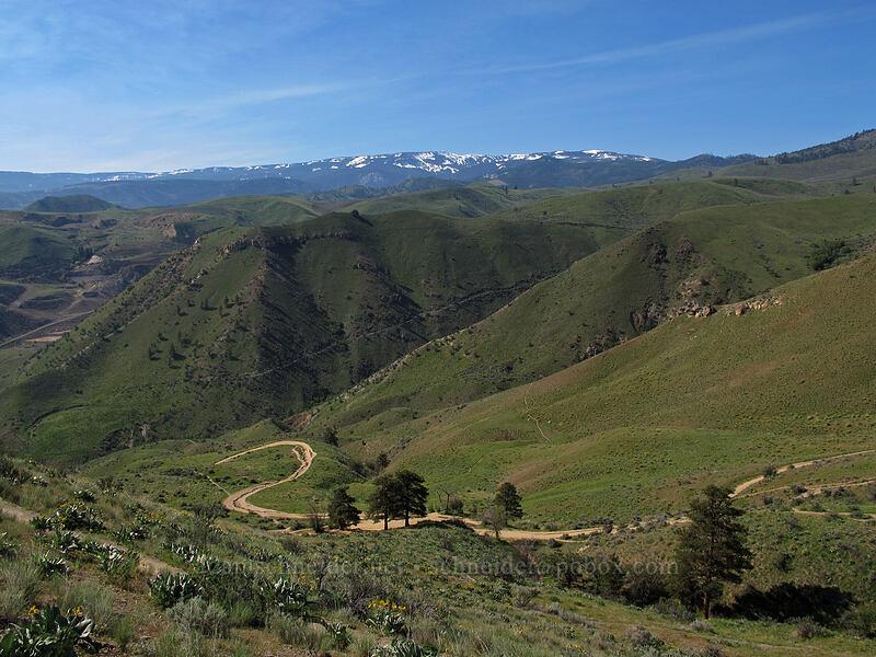 view to the south-southwest [Saddle Rock Trail, Wenatchee, Washington]